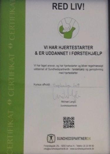 FØRSTE HJÆLP KURSUS Park Alléens Fysioterapi